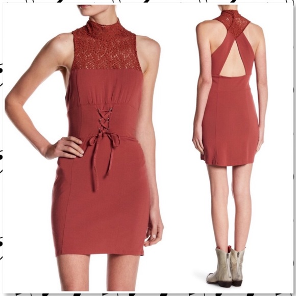 Free People High Society Bodycon Lace Dress NEW